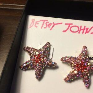 Betsey Johnson Jewelry - NWT Betsey Johnson starfish earrings